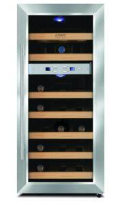 CASO WineDuett 21 Design Weinkühlschrank für bis zu 21 Flaschen - PLATZ 3