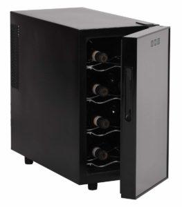 AMSTYLE Design Weinkühlschrank 23 Liter 8°C-18°C - 8 Flaschen Weinkühler