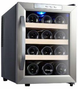 Kalamera KR-12ASS Edelstahl Weinkuehlschrank 33 Liter 12 Flasche Weinklimakuehschrank Minibar