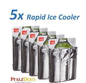 """Unser Herbstknaller: 5x Weinkühler """"Rapid Ice Silber"""" von Vacu Vin"""